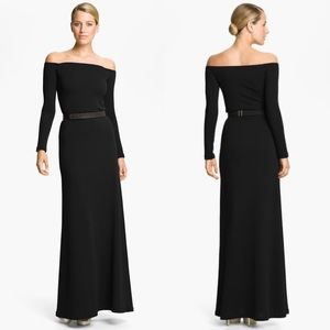Halston Heritage Off the shoulder gown